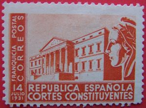 Franquicia Postal. Cortes Constituyentes. II República española. (Imagen: Wikipedia)