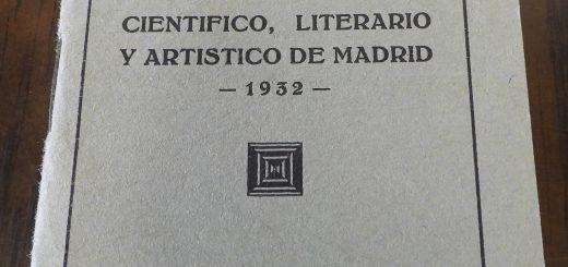 Reglamento del Ateneo de Madrid, de los años en que Manuel Azaña fue presiente de la prestigiosa entidad.