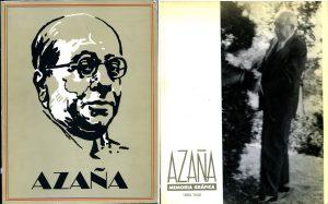 """Cubiertas de los catálogos de la """"Exposiciones Azaña"""" en Madrid y Alcalá (1990)."""