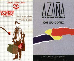 """Carteles de """"La velada en Benicarló"""" (Alberto Corazón) y """"Azaña, una pasión española"""" (V.A.S.)."""