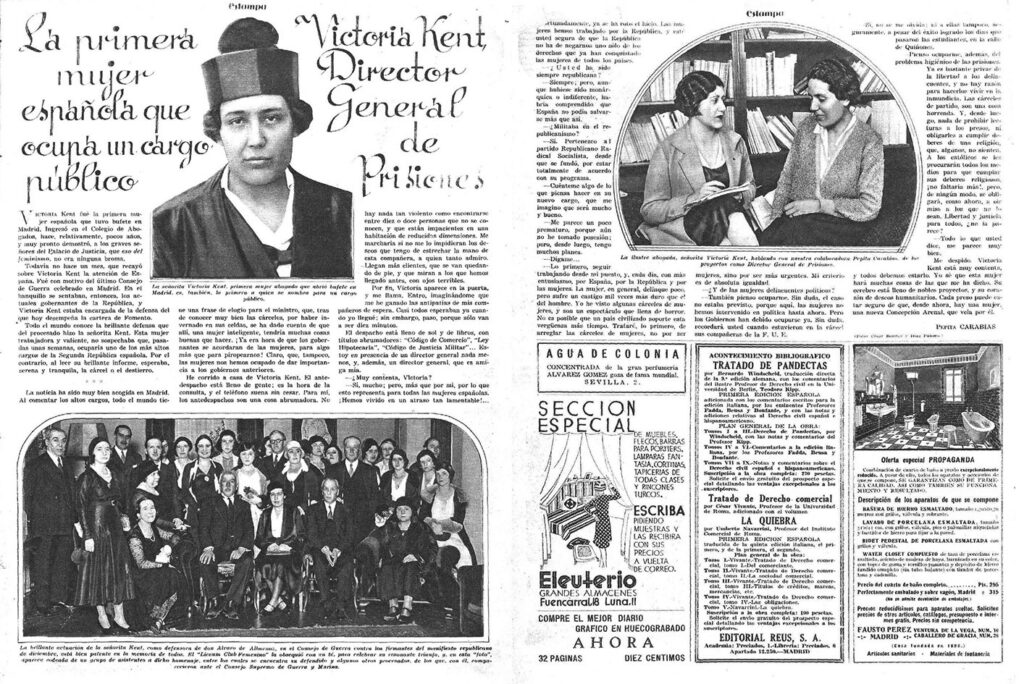 entrevista de Pepita Carabias a Victoria Kent