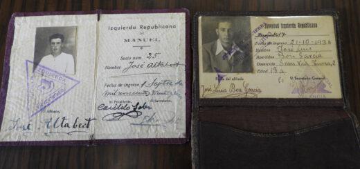 Documentos de afiliados a Izquierda Republicana de la provincia de Valencia.