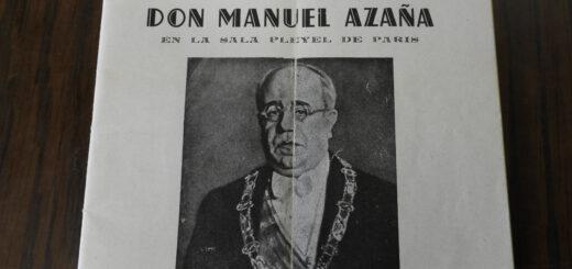 Homenaje en Francia a Manuel Azaña, en 1947
