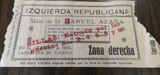 entrada mitin IR 1935