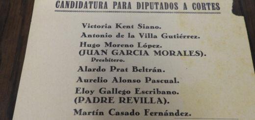 Candidatura para las elecciones legislativas 1933